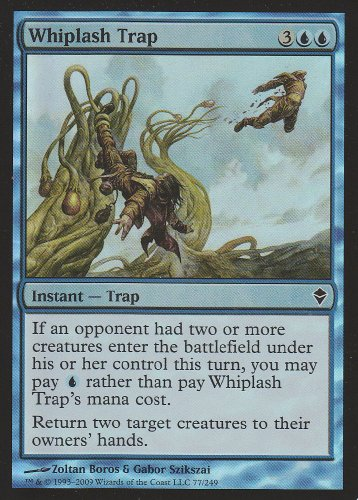 (Whiplash Trap FOIL (Magic the Gathering : Zendikar #77 Foil Common))