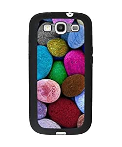 Beautiful Cobblestones Pebbles Pattern Samsung Galaxy S3 Plastic and TPU Durable Phone Case Cover(Laser Technology)