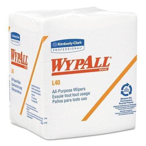 KIMBERLY CLARK CONSUMER 5701 WYPALL L40 Cloth-Like 1/4-Fold Wipers, 12 1/2 x 12, 56/Box, 18 Packs/Carton by Kimberly-Clark
