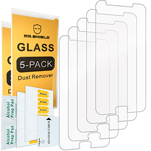 [5-PACK]- Mr Shield For Samsung Galaxy Halo [Tempered Glass] Screen Protector [0.3mm Ultra Thin 9H Hardness 2.5D Round Edge] with Lifetime Replacement Warranty