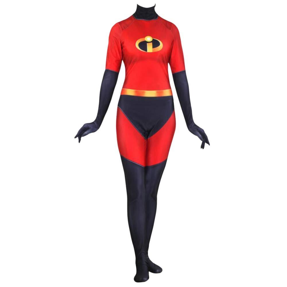 WEGCJU Superwoman Kleidung Strumpfhosen Cosplay Halloween Erwachsene Kinder Spielzeug Kostüm Overalls Verformung Kleid Party Movie Requisiten,A-M