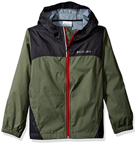 Columbia Big Boy's Glennaker Rain Jacket, Cypress, Shark