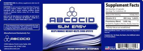4 bottles Abcocid Slim Easy with raspberry ketone, green tea fucoxanthin, vitamin b12
