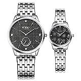 TIDOO Couple Lovers Quartz Wristwatch Delicate Luxury Steel Strap Men Watch Women Watches