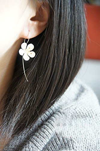 s925 Silver Earrings earings Dangler Eardrop Thai Craft Flowers Fringed Long Sterling Silver Sterling Silver Women Girls Models