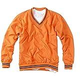 myglory77mall Mens VNeck Golf Windbreaker Jacket Windshirt Wind resister Waterproof L(XL tag) Orange