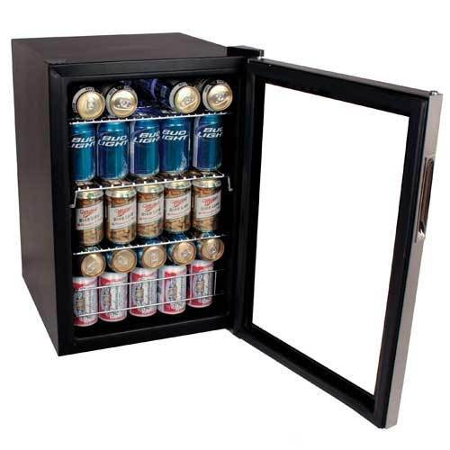 Edgestar 84 Can Extreme Cool Beverage Cooler 32 Bottle Dual Zone Stainless Steel Wine Cooler