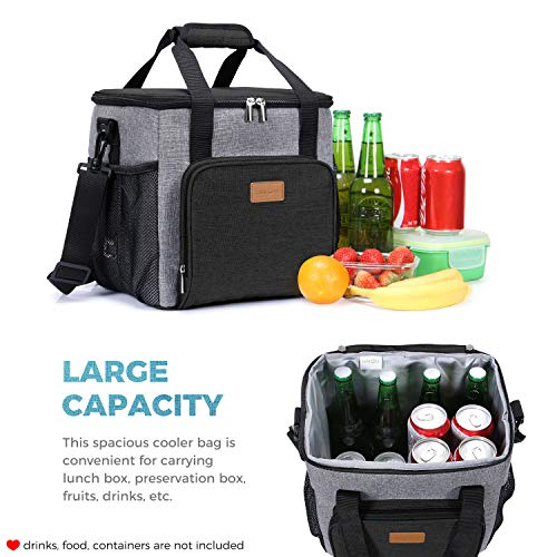 26ae027b4c52 Lifewit Insulated Large Lunch Box Lunch Cooler Bag for Men Adults, 17L  (24-Can) Soft Cooler for Sports/Work, Big Lunch Bag Keep Food Cold Hot  Fresh, ...