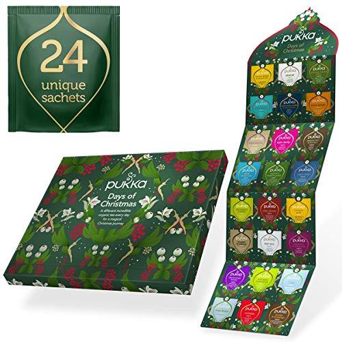 Calendario de Adviento de te Pukka Herbs 2020, calendario de Adviento sin chocolate, el calendario de Adviento perfecto para los amantes del te (24 bolsas)