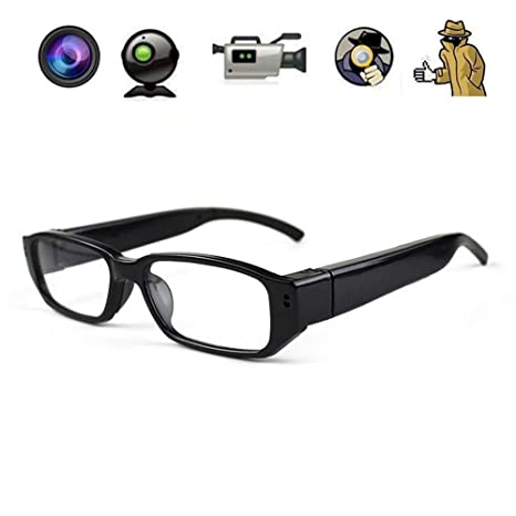 a05112ac4c6d Amazon.com   Mengshen Mini Glasses HD 1280×720P Spy Camera Hidden Eyewear  Cam DVR Video Recorder DV Camcorder HC14   Camera   Photo