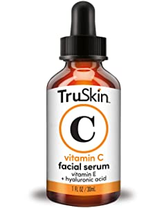 TruSkin Vitamin C Serum for Face, Topical Facial Serum with Hyaluronic Acid & Vitamin E, 1 fl oz