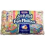 Kraft, Jet-Puffed, Fun Mallows, Fruity Flavors, 10oz Bag (Pack of 4)