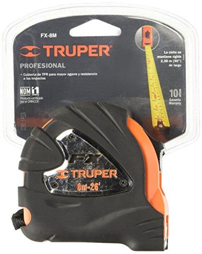 Truper FX-8M, Flexómetro Pro-Lock, Contra Impacto, 8m