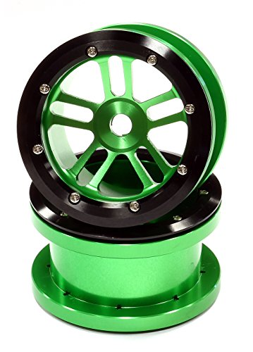 UPC 917890170631, Integy RC Hobby C24884GREEN Billet Machined Alloy T2 Dual 5 Beadlock Wheel (2) for Axial Wraith w/ 12mm Hex