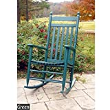 Dixie Seating Asheville Slat Back Wooden Rocking Chair - Assembly Required