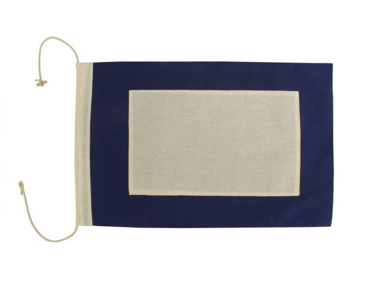 Hampton Nautical  Letter P Nautical Cloth Alphabet Flag, Decor, Home Decoration, Wall Art Tool, 20''