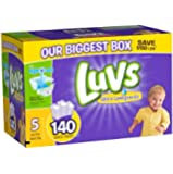 Luvs With Ultra Leakguards Diapers, Size 5, 140 Count (One Month Supply)