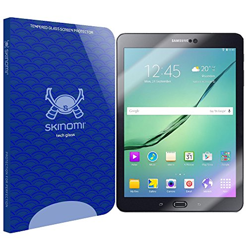 Samsung Galaxy Tab S2 8.0 Screen Protector, Skinomi Tech Glass Screen Protector for Samsung Galaxy Tab S2 8.0 Clear HD and 9H Hardness Ballistic Tempered Glass Shield