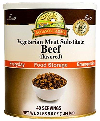 Augason Farms Emergency Food Beef Vegetarian Meat Substitute, 37 oz by Augason Farms