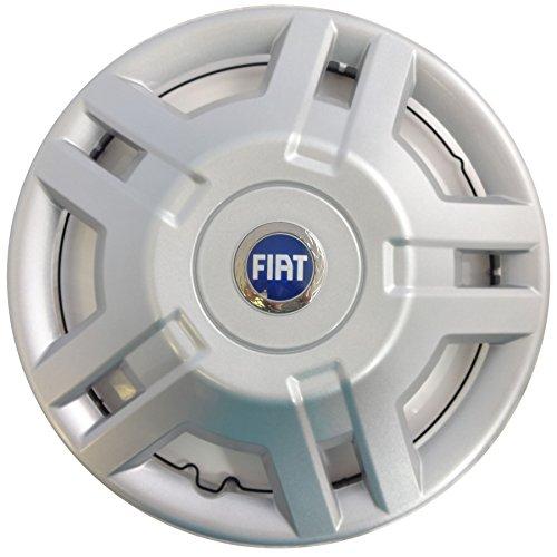 Fiat - Juego de 4 tapacubos para Fiat Ducato Van o Motorhome (15 pulgadas), logo azul: Amazon.es: Coche y moto