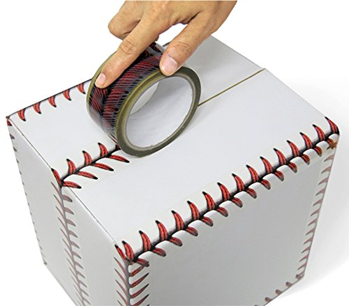 Baseball Stitches Design Cellophane Adhesive Tape Funny Home Decor (Baseball)]()