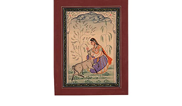 Amazon com: Todi Ragini Miniature Art Indian Rajasthani