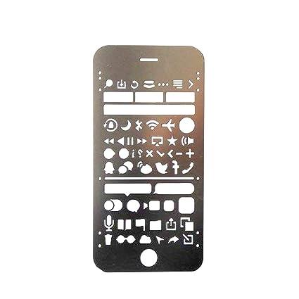 amazon com ios ui metal templates joytong multifunctional portable