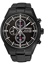 Seiko SSC393 Men's Core Black Bracelet Band Black Dial Watch