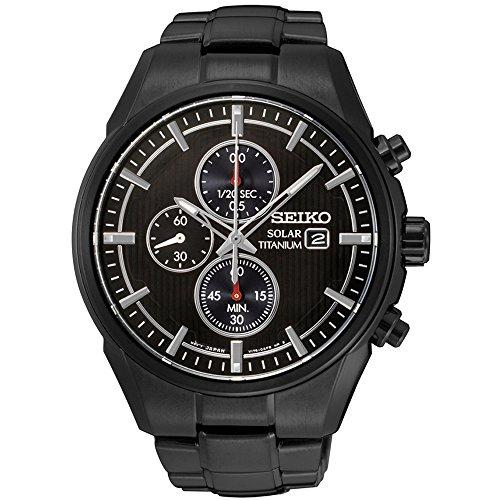 Seiko Men's SSC393 Titanium Solar Chronograph Watch
