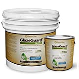 GlazeGuard Gloss Floor Sealer Wall Sealer for Ceramic, Porcelain, Stone Tile Surfaces (4 Gal - Prof Grade (2) Part Kit)