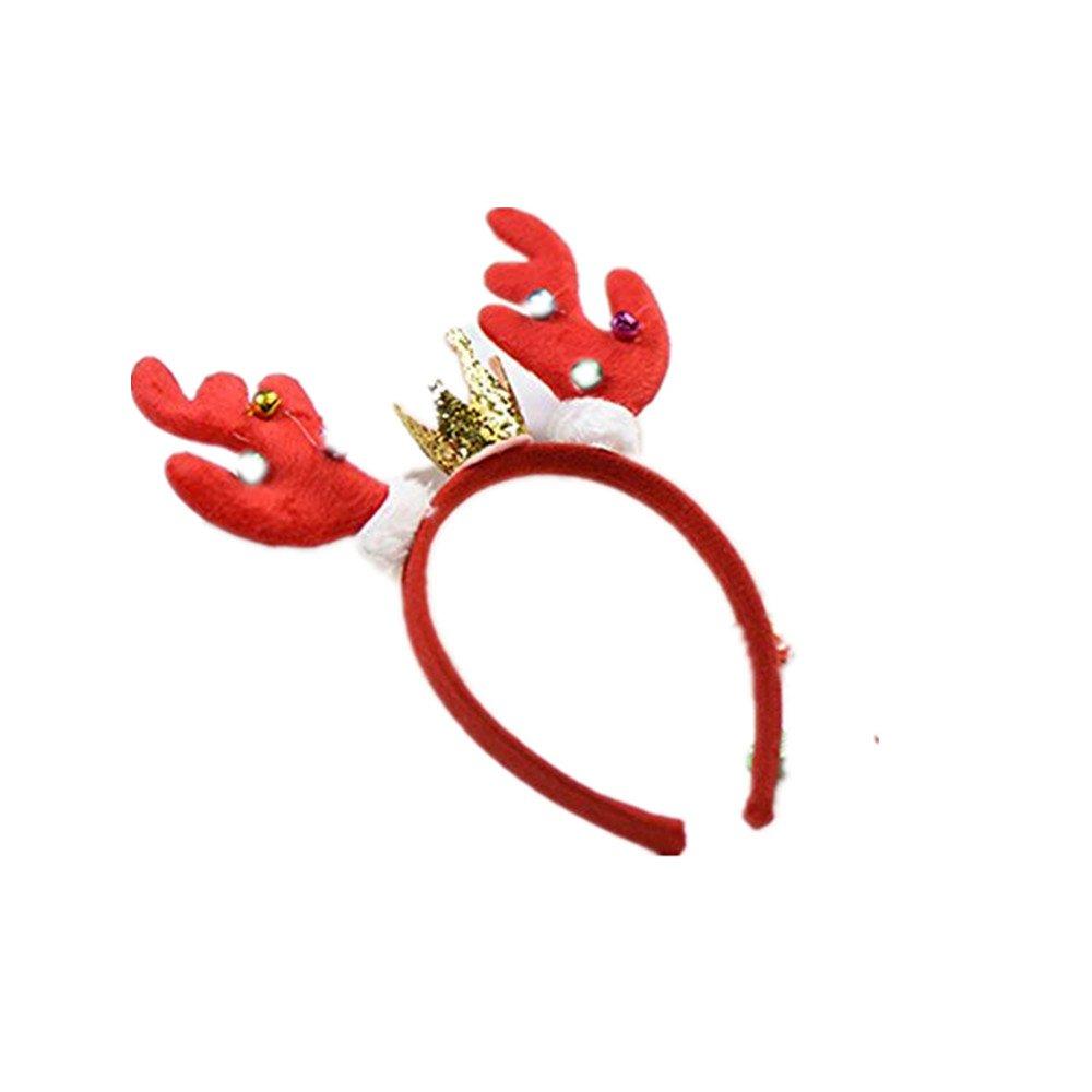 LemonGo Reindeer Antlers Headband Christmas hair band and Easter Party Headbands 1