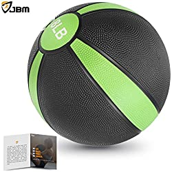 JBM Medicine Ball (2lbs 4lbs 6lbs 8lbs 10lbs 12lbs 15lbs) Slam Ball Medicine Ball Workouts / Exercise Strength Training Cardio Exercise Plyometric & Core Training Squats, Lunges, Slam Exercise