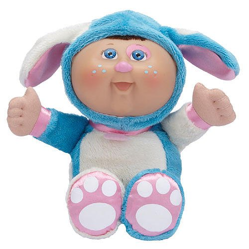 Cabbage Patch Costume For Baby (Cabbage Patch Kids *Cuties* Boy Doll in Blue Puppy Costume)