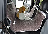 Leather Pet Car Back Seat Cover Car Waterproof Hammock with Rear View for Large Animals Auto Back Seat Protector Strong Buckles Washable in Machine 58