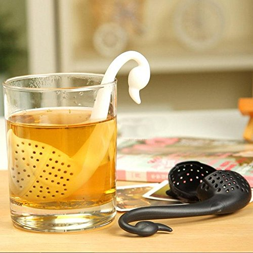 Cute Swan Shape Creative Colander Tea Strainer Teaspoon Infuser Filter