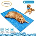 N&R Dog Cooling Mat/Pad/Bed - Cool Gel Technology - Help Your Pet Stay Cool and Reduce Joint Pain - Prevent Overheating and Dehydration - Ideal for Outdoor Home and Travel by N&R