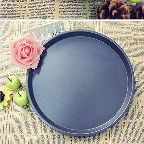 HOT, 1010 Round Stainless Steel Pizza Pan for Baking Wedding Cake Pizza Pie Bread Loaf for Microwave Oven Baking Pan,Non-Stick Pizza Pan Carbon Steel Pizza Tray Pie Pans, Round Pizza Pan (10 inch)