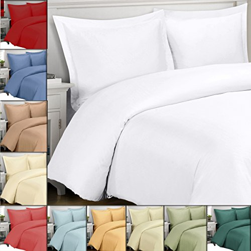 King / Cal-King Ivory Silky Soft Duvet Covers 100% Rayon fro