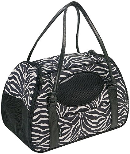 Gen7Pets Carry-Me Deluxe Zebra Pet Carrier for Cats and Small Dogs, Large