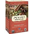 Numi Organic Tea--Golden Chai--18 Count Tea Bag 1.65 oz--Spiced Black Tea--Premium Assam Black Tea Blended with Chai Spices