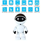 Teepao [Updated Version] IP Robot Camera HD 960P Wireless Security Camera 1.3MP CMOS Mini Robot Baby Monitor Pan Tilt Remote Home Security P2P IR Night Vision for Mobile Android/IOS and Laptop