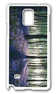 MOKSHOP Adorable Flowers in Forest Hard Case Protective Shell Cell Phone Cover For Samsung Galaxy Note 4 - PC White Kimberly Kurzendoerfer
