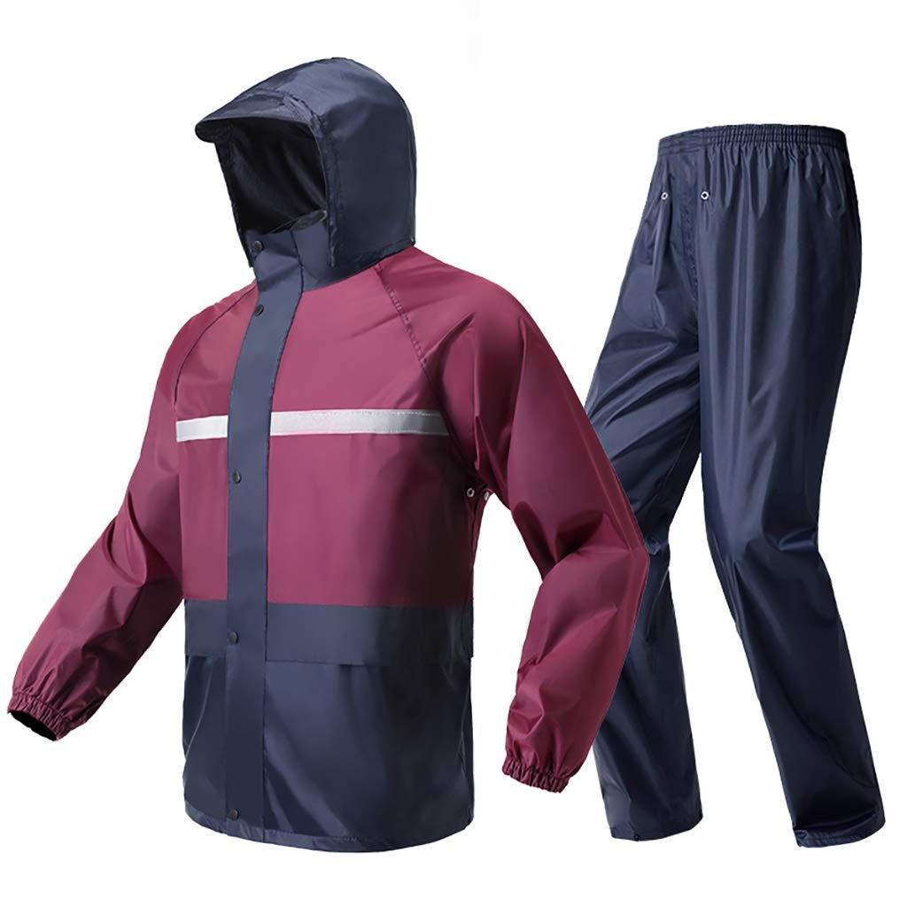 SH-jiake Regenmantel Set für Erwachsene Männer und Frauen Wiederverwendbare Regenkleidung Erwachsene wasserdicht regendicht Winddicht mit Kapuze (größe : M)