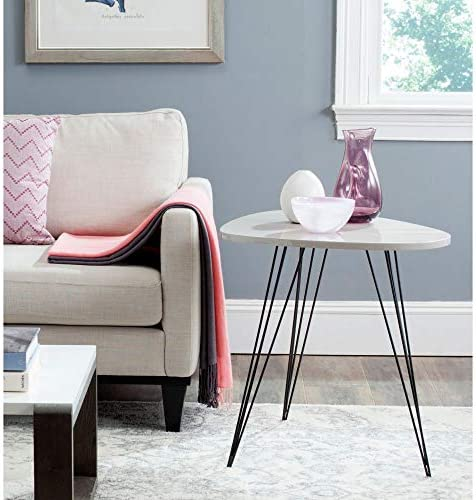 Safavieh Home Collection Wynton Mid-Century Modern Taupe and Black End Table