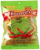 Howards Lime Chili Fried Pork Skins Strips | Crispy Texture, Low Carb, Delicious Flavor | Guilt Free Diet Friendly Low Sugar Snacking | 3oz, Pack of 4