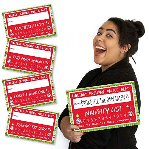 Big Dot of Happiness Wild and Ugly Sweater Party - Holiday and Christmas Animals Party Mug Shots - Photo Booth Props Kit - 20 Count ()