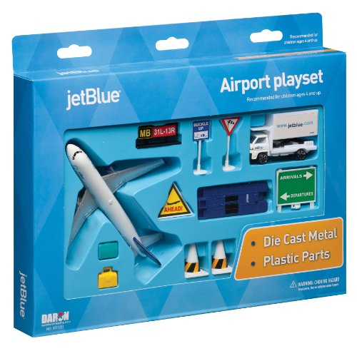Jetblue Die Cast Airport Playset  11 Pieces In Set