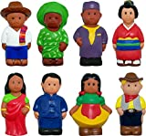 Get Ready Kids Cultural Figures Toy (8 Piece), Multi, 5''