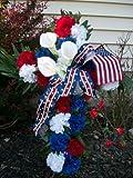 "Patriotic Cross Wreath - 20"""