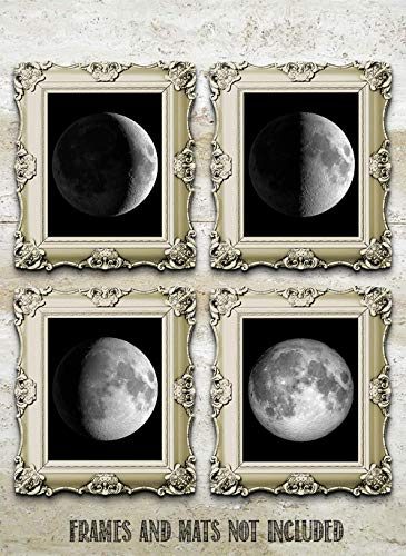 Moon Phases - Set of Four 8x10 Unframed Art Prints - Great Gift and Decor for Astronomers, Observatories and Home Under… 6